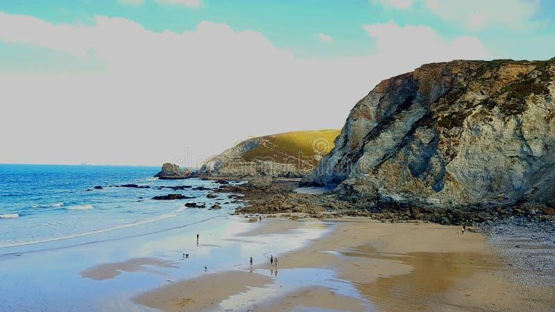 St Agnes is een burgerlijke parochie en een groot dorp op de het noordenkust van Cornwall, Engeland, stock foto