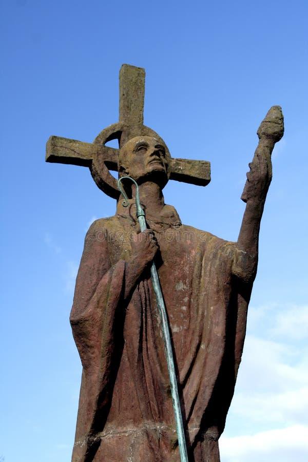 St Aidan's statue royalty free stock image