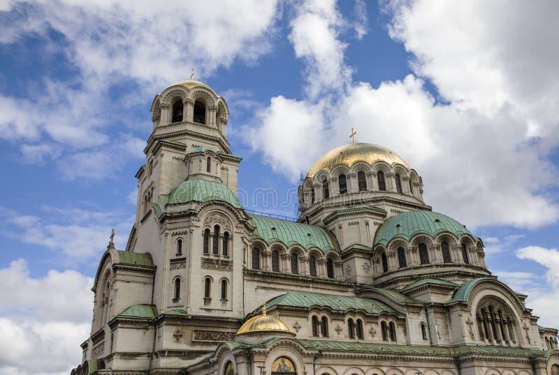 St Al Nevskikerk, Sofia, Bulgarije stock foto's