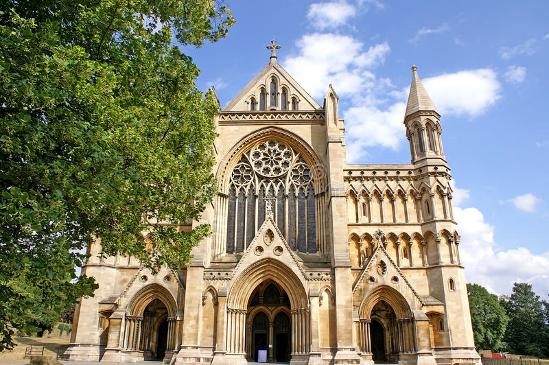 Download St Albans Cathedral stock image. Image of gothic, england - 28148455