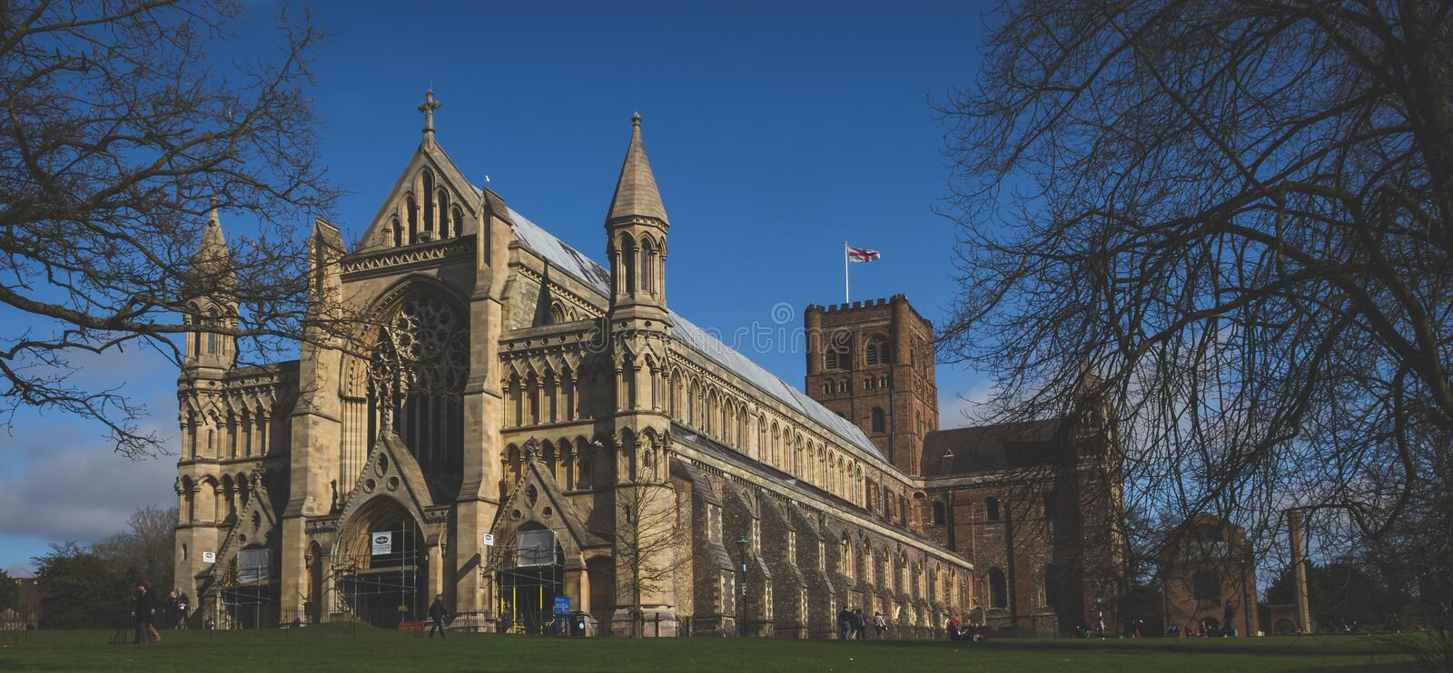 St Albans Cathedral stock images