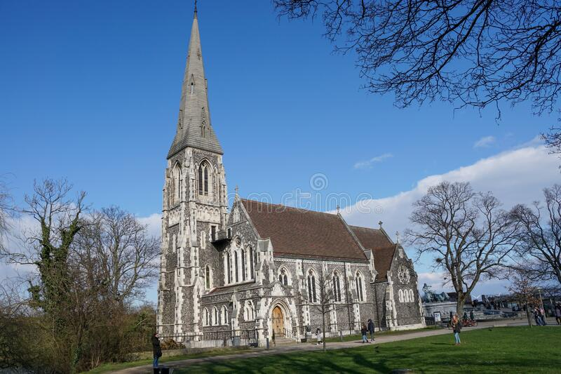 St Albans church, Copenhagen stock image
