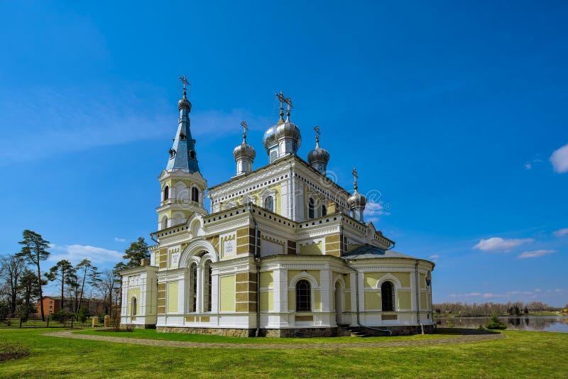 St. Aleksander Nevsky kościół w Stameriena zdjęcia royalty free