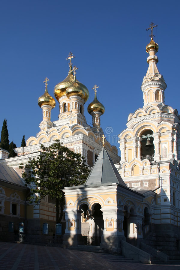 St. Alexander Nevski Cathedral. In the Yalta royalty free stock photo