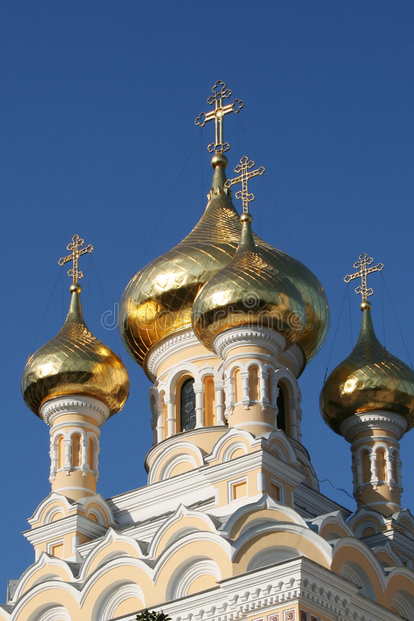 St. Alexander Nevski Cathedral. In the Yalta royalty free stock photos
