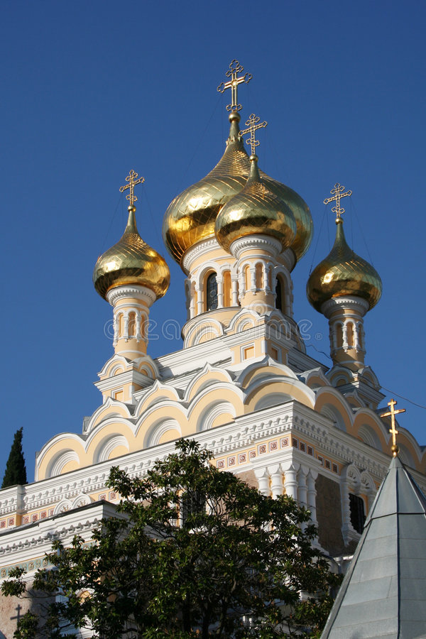St. Alexander Nevski Cathedral. In the Yalta stock image