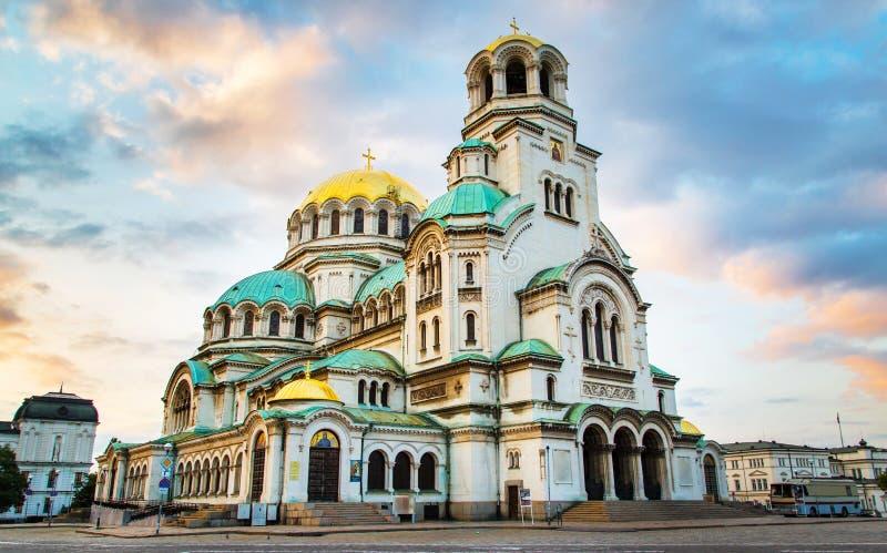 St Alexander Nevski Cathedral en Sofía, Bulgaria fotos de archivo libres de regalías