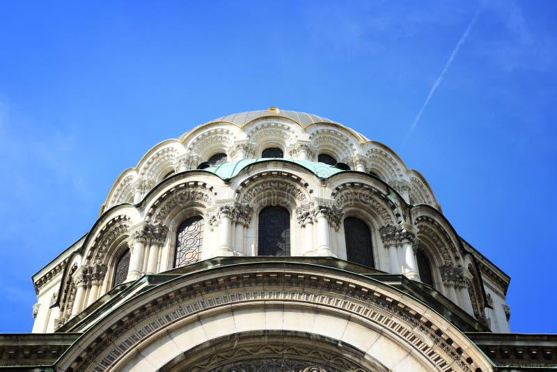 Nevski Cathedral, Bulgaria. St. Alexander Nevski Cathedral in Sofia, Bulgaria. Orthodox landmark stock photo