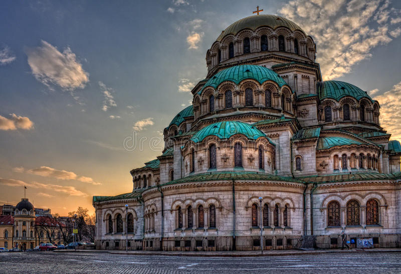 St Alexander Nevsky Cathedral, Sofía fotografía de archivo