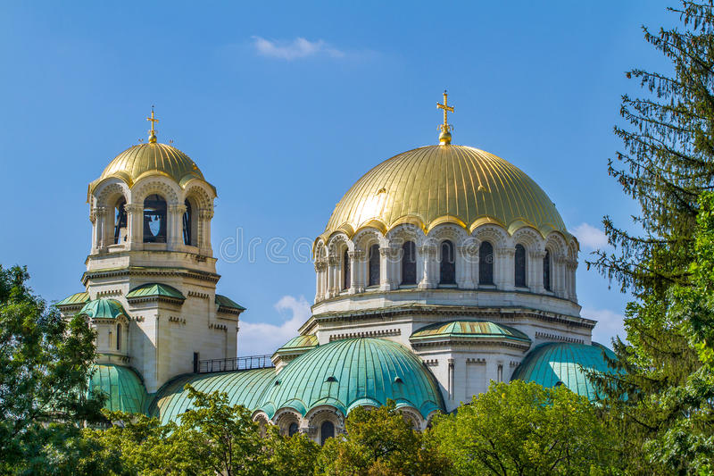 The St. Alexander Nevsky Cathedral royalty free stock photos