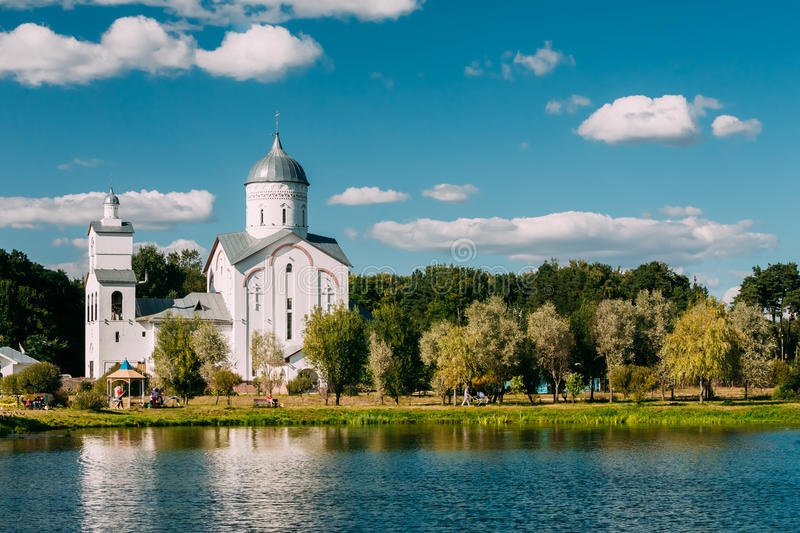 St. Alexander Nevsky Church in Gomel, Belarus. Building of Orthodox Church royalty free stock photo