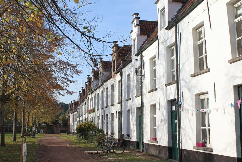 St Alexiusbegijnhof, Dendermonde, Belgien stockbilder
