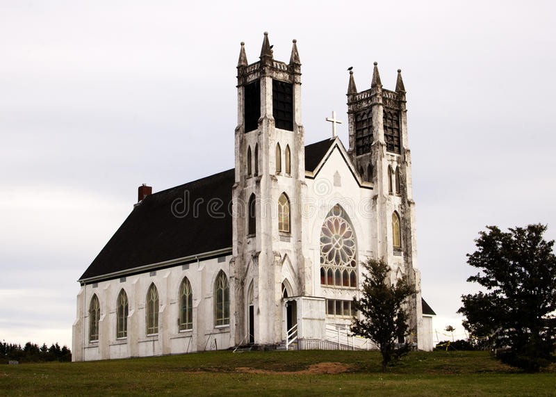 St. Alphonsus Church. About: Historical stone church taken by local photographer William Petrie. Location: Victoria Mines, Nova Scotia royalty free stock photography