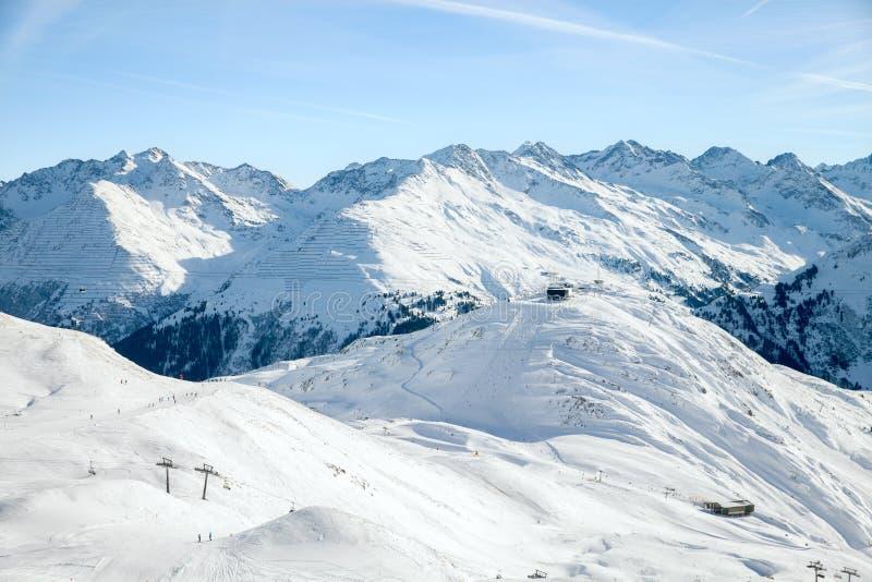 St alpin Anton, Autriche de station de sports d'hiver photographie stock