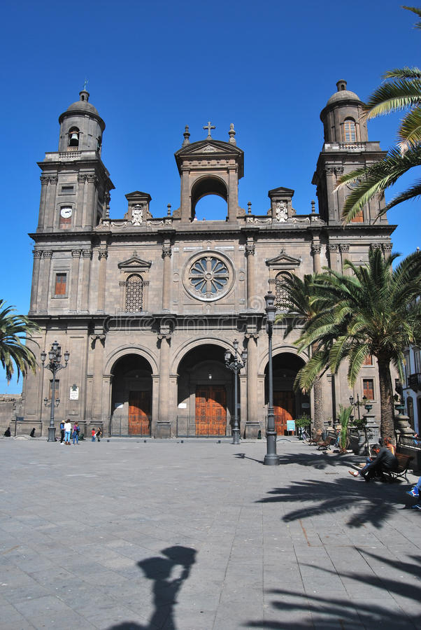 St Ana Cathedral, Las Palmas Gran Canaria, Spain. The Cathedral of Saint Ana situated in the old district Vegueta in Las Palmas de Gran Canaria, Spain stock photo