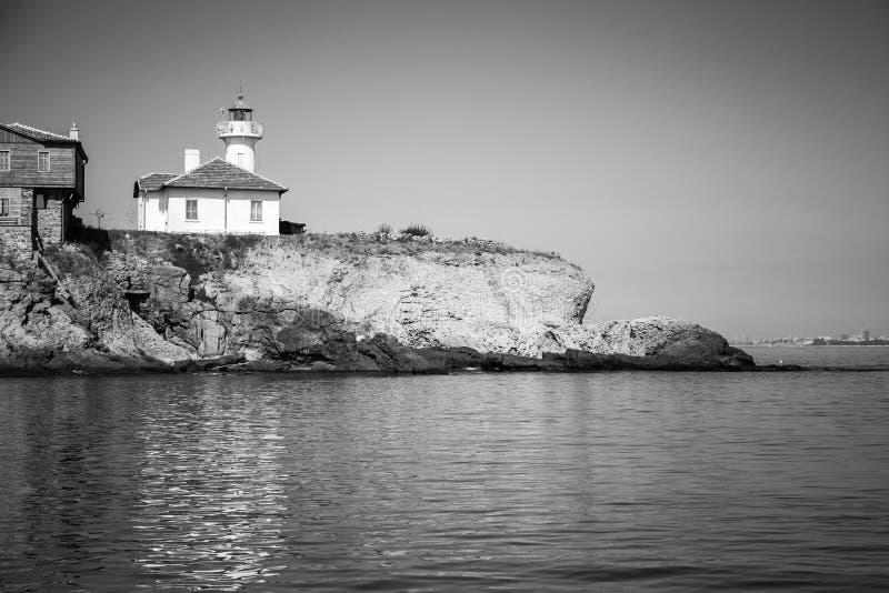 St Anastasia Island bulgarije zwart-wit stock fotografie