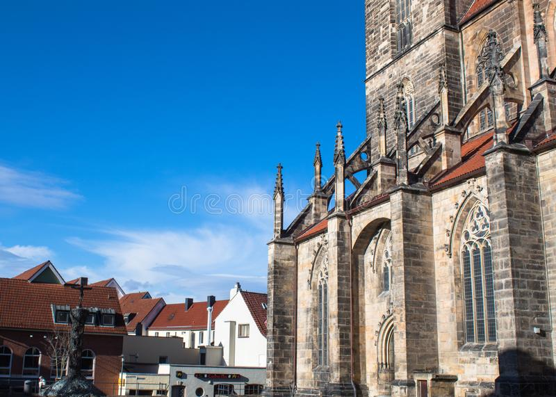 St andreas church in hildesheim sunny clear day royalty free stock images