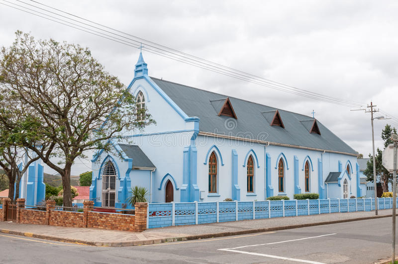 St Andrew Anglicaanse Kerk, Riversdale stock afbeelding