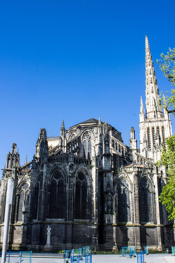 St Andrew Cathedral in Bordeaux stock fotografie