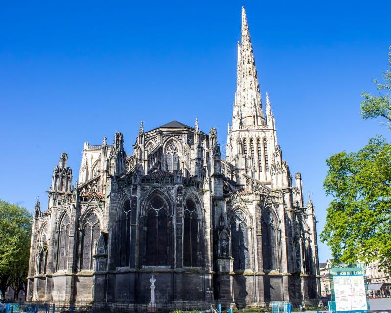St Andrew Cathedral in Bordeaux royalty-vrije stock afbeeldingen