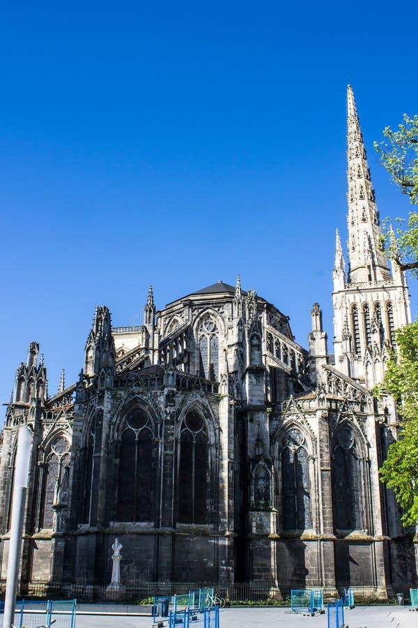 St Andrew Cathedral en Bordeaux photographie stock