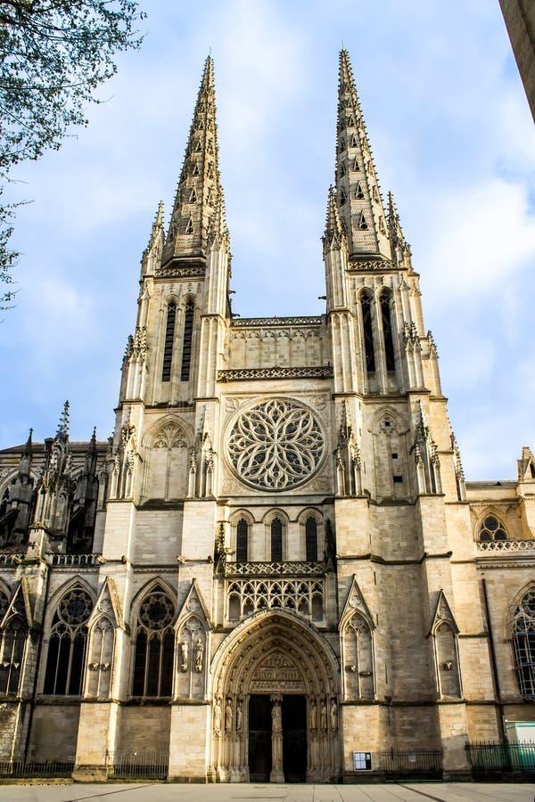 St. Andrew Cathedral im Bordeaux lizenzfreie stockfotos