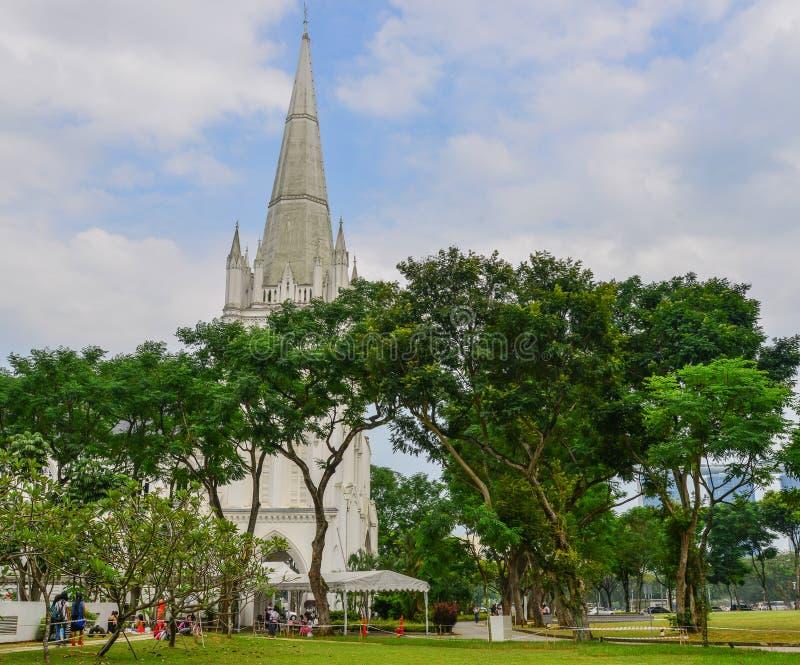 St. Andrew Cathedral in Singapur lizenzfreies stockfoto
