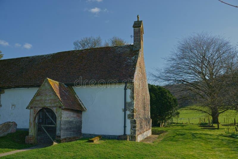 St Andrew Church, Didling, Sussex, UK fotografering för bildbyråer
