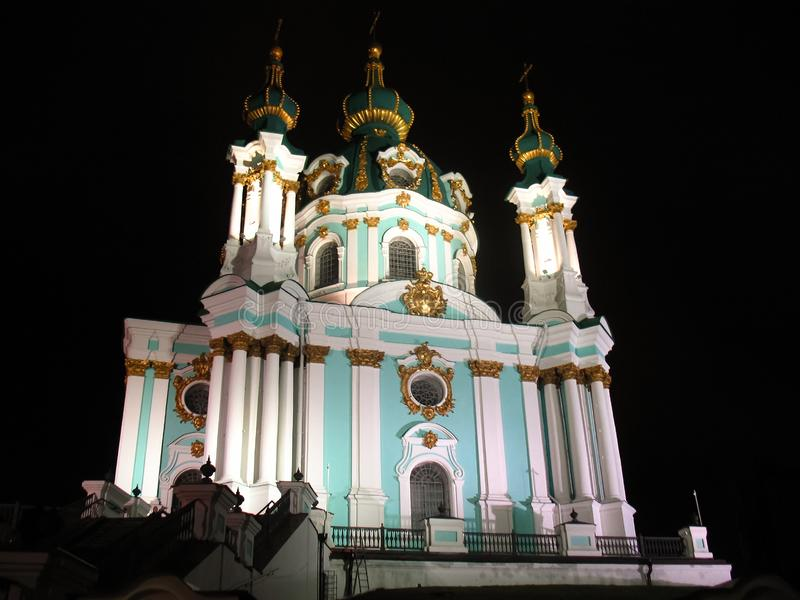 St Andrew Church em Kiev, Ucr?nia imagem de stock
