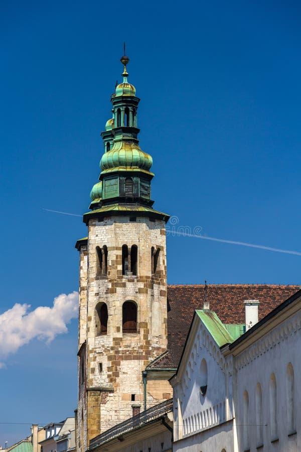 St. Andrew Church em Krakow, Polônia fotografia de stock