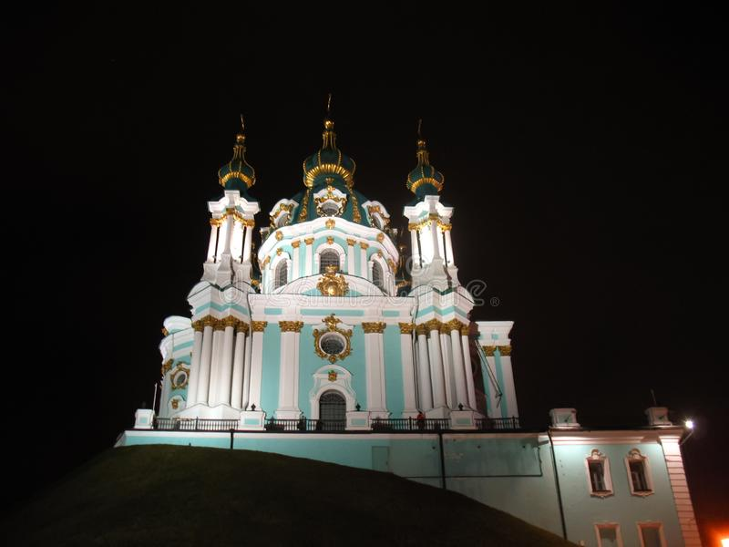 St Andrew Church, Kiev city royalty free stock image