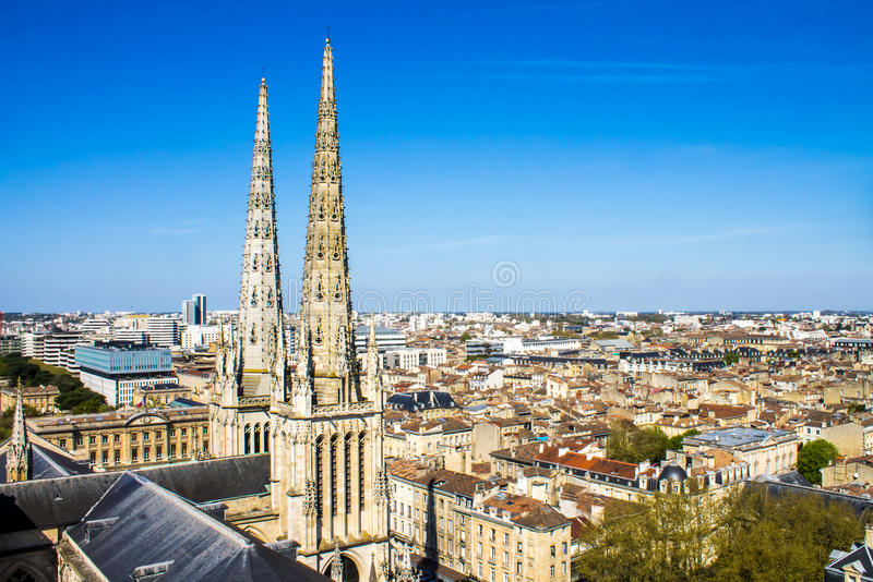 St Andrew Kathedraal, Bordeaux, Frankrijk stock afbeeldingen