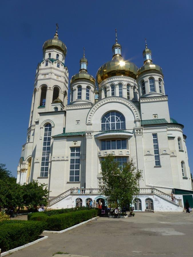 St Andrew Kathedraal in de stad van Nieuwe Kakhovka royalty-vrije stock foto