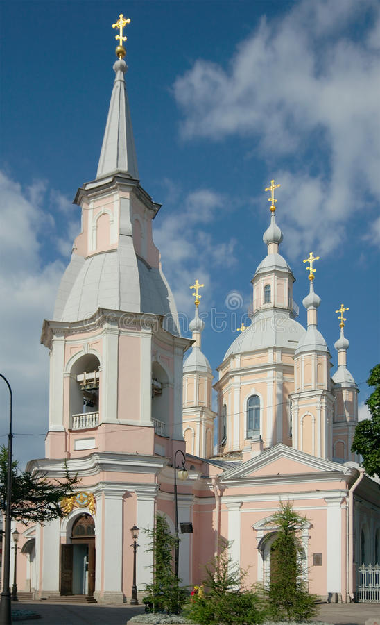 St Andrew Kathedrale, St Petersburg, Russland stockfoto