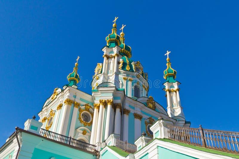 St. Andrew kerk in Kiev stock foto