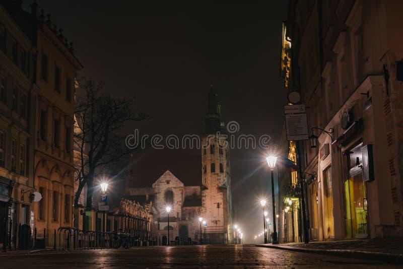 St Andrew Kerk, Krakà ³ w stock foto's