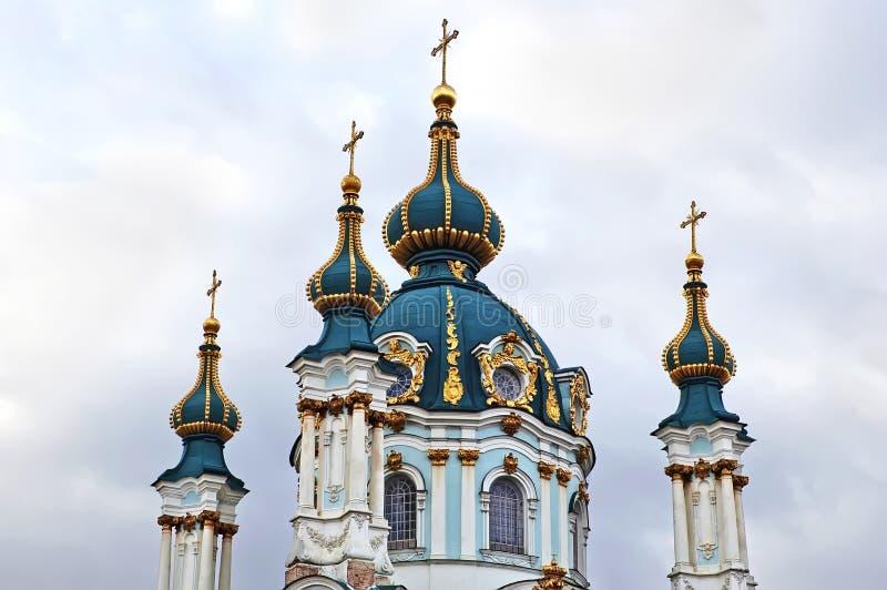 St. Andrew kerk in Kyiv royalty-vrije stock foto's