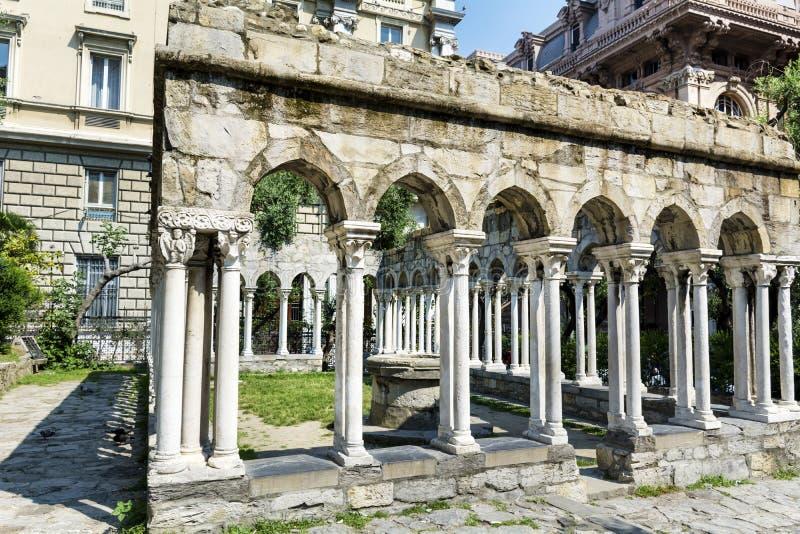 St Andrew Kloster in Genoa Italy lizenzfreie stockbilder