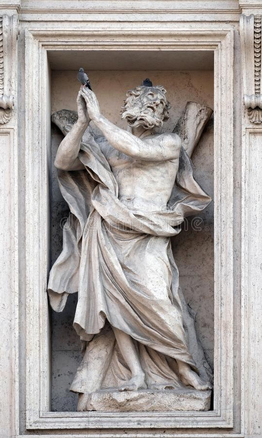 St Andrew l'apostolo fotografie stock