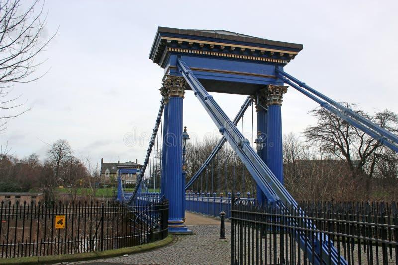 St Andrew, puente colgante de s, Glasgow foto de archivo libre de regalías