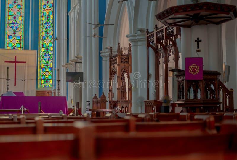 St Andrew s anglikansk domkyrka Singapore arkivfoto
