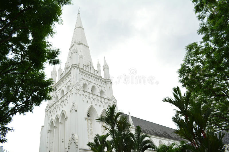 St Andrew's Cathedral, Singapore stock photography