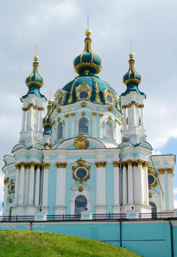St Andrew's Church, Kiev, Orthodox church royalty free stock photography