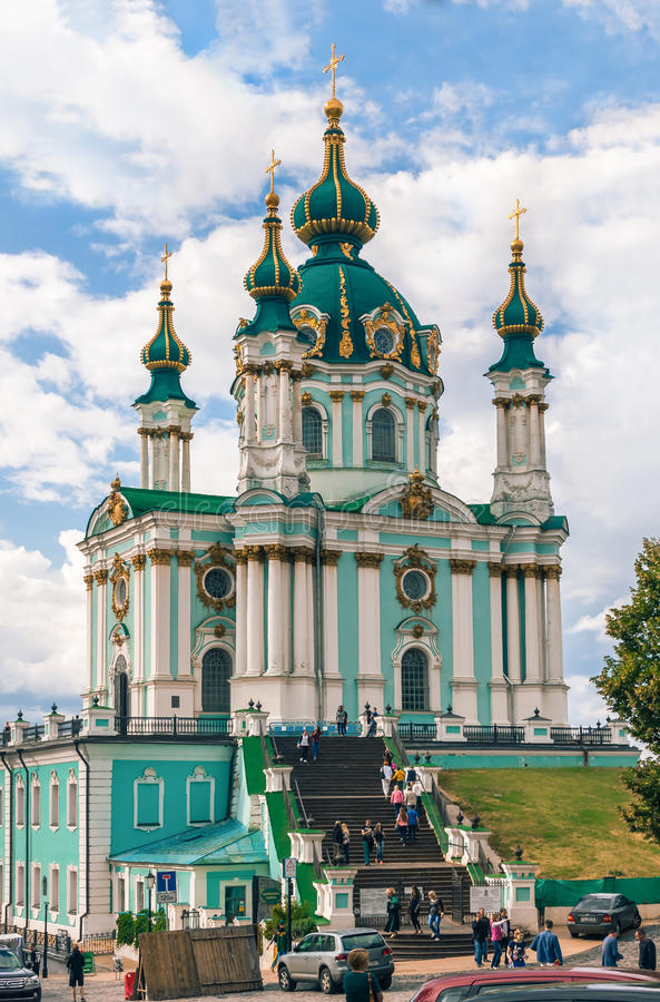 St Andrew's Church, Kiev royalty free stock photography