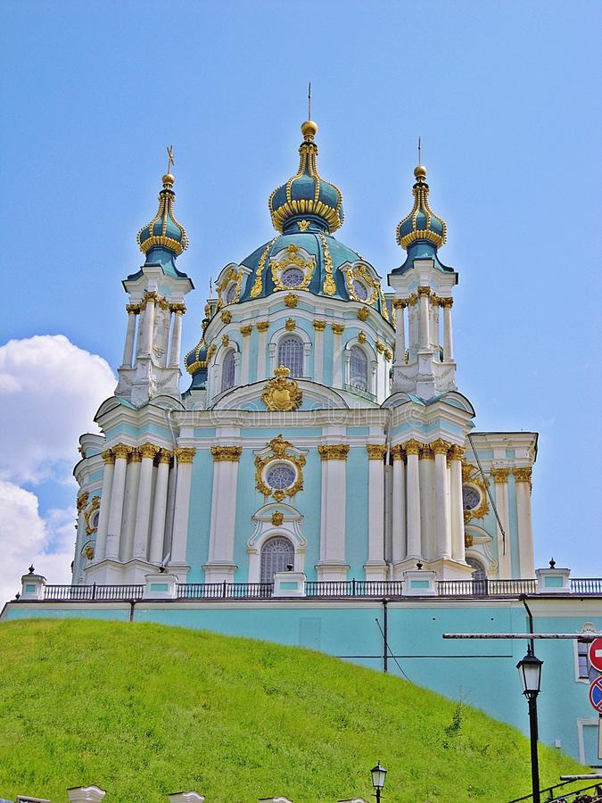 St. Andrew's Church in Kiev, Ukraine stock images