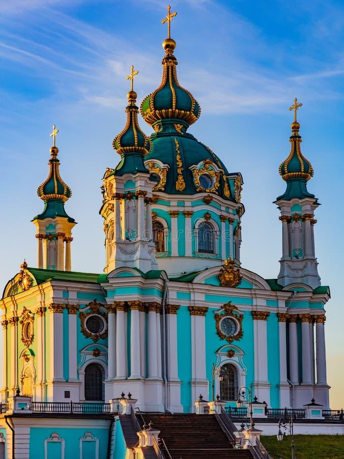 St Andrew s Church Kiew Ukraine Landmark stockbild