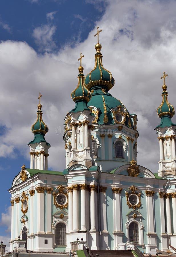 St. Andrew's church in Kyiv, Ukraine stock photography