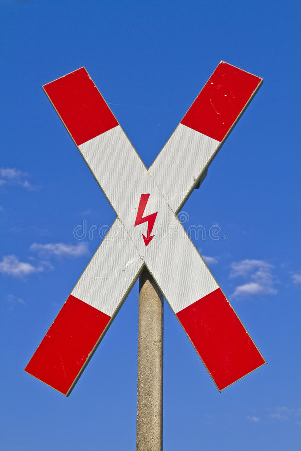 Download St. Andrew's Cross stock image. Image of blue, danger - 25593149
