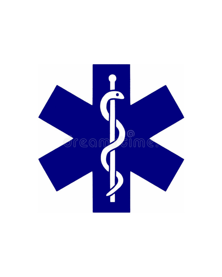 St Andrew's cross and Eskulap. Illustration of the medical symbol royalty free illustration