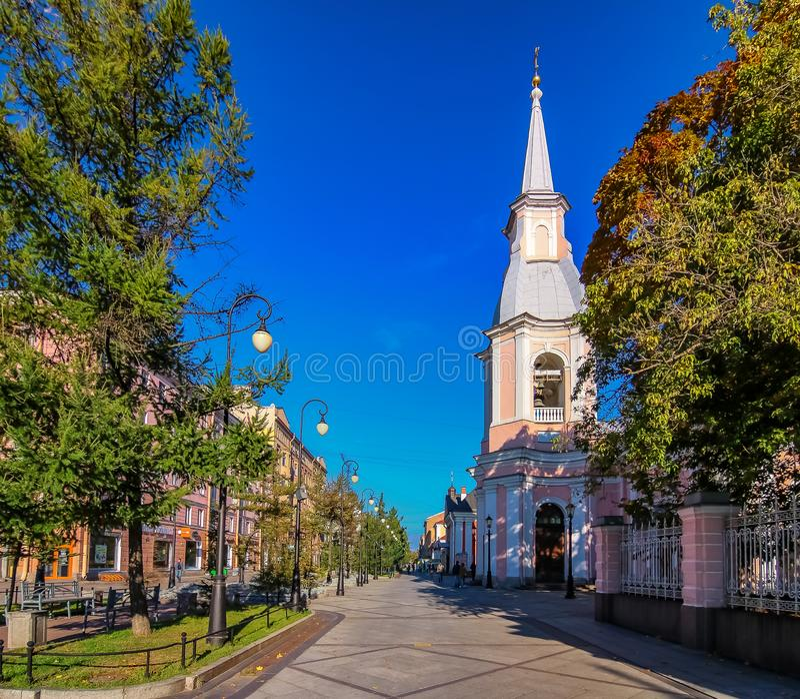 St Andrew& x27; s katedra, ostatnia barokowa katedra budowa? w ?wi?tobliwym Petersburg, Rosja obrazy stock